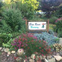 Blue River Nursery Sign